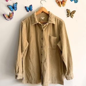 Vintage Ll Bean Corduroy Large Camel Button Down